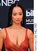 Draya Michele at the 2019 Billboard Music Awards held at the MGM Grand Garden Arena in Las Vegas, USA on May 1, 2019. Стоковое фото, фотограф Zoonar.com/Lumeimages.com / age Fotostock / Фотобанк Лори