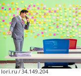 Купить «Businessman with many conflicting priorities», фото № 34149204, снято 23 мая 2018 г. (c) Elnur / Фотобанк Лори