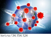 Coronavirus covid-19 pandemic concept with doctor. Стоковое фото, фотограф Elnur / Фотобанк Лори