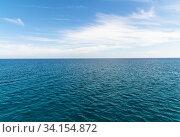 Купить «The Beautiful landscape with the Mediterranean Sea», фото № 34154872, снято 10 октября 2019 г. (c) Володина Ольга / Фотобанк Лори