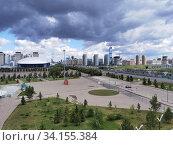 Городской пейзаж в Нур-Султане, Казахстан (2020 год). Редакционное фото, фотограф Максим Гулячик / Фотобанк Лори