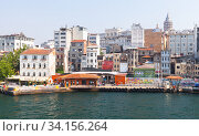 Karakoy. Street view of Beyoglu district of Istanbul (2016 год). Редакционное фото, фотограф EugeneSergeev / Фотобанк Лори
