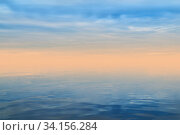 Background - dawn haze over the sea in gentle colors. Стоковое фото, фотограф Евгений Харитонов / Фотобанк Лори