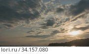 Купить «timelapse sunrise, from dark to bright day sun, over sea, waves are washing», видеоролик № 34157080, снято 23 апреля 2019 г. (c) Александр Маркин / Фотобанк Лори