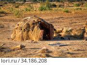 Купить «The hovel of the poor Indian farmer (ryot)», фото № 34186208, снято 15 июля 2020 г. (c) easy Fotostock / Фотобанк Лори