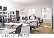 contemporary loft office. Стоковое фото, фотограф Виктор Застольский / Фотобанк Лори