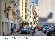 Street in Saifi Village residential upscale neighbourhood located in Beirut, Lebanon. Стоковое фото, фотограф Konrad Zelazowski / age Fotostock / Фотобанк Лори