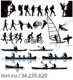 Freizeitaktivität, Bergsteigen, Wandern, Kajakfahren, Surfen, Radfahren. Стоковое фото, фотограф Zoonar.com/scusi / easy Fotostock / Фотобанк Лори