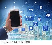 Smart city in innovation concept. Стоковое фото, фотограф Elnur / Фотобанк Лори