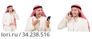 Arab man in diversity concept. Стоковое фото, фотограф Elnur / Фотобанк Лори