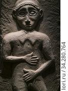 Iberian statuette, Casa de la Tercia Historic and Archaeological Town museum, Baena town, Cordoba province, Andalusia, Spain, Europe. Стоковое фото, фотограф Juan Carlos Muñoz / age Fotostock / Фотобанк Лори