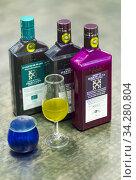 Eco olive oil, Cortijo de Suerte Alta Andalusian farmhouse, Baena town, Cordoba province, Andalusia, Spain, Europe. Стоковое фото, фотограф Juan Carlos Muñoz / age Fotostock / Фотобанк Лори
