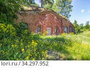 Brick building in Trongsund fortress. Стоковое фото, фотограф Дмитрий Тищенко / Фотобанк Лори