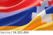 Background with flag of Artsakh. Стоковое фото, фотограф Zoonar.com/Anton Litvintsev / easy Fotostock / Фотобанк Лори