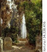 Cour Janus Bartholin La - a Fountain at the Villa D`Este in Tivoli... Редакционное фото, фотограф Artepics / age Fotostock / Фотобанк Лори