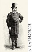 Portrait of Henri de Roger de Cahusac, Marquis de Caux (1826 - 1889... Стоковое фото, фотограф Jerónimo Alba / age Fotostock / Фотобанк Лори