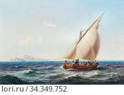 Hansen Sigvard Marius - En Gruppe Italienere Til Søs I Middelhavet... Редакционное фото, фотограф Artepics / age Fotostock / Фотобанк Лори