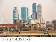 Cityscape and beautiful Donwtown city of Rotterdam the Netherlands... Стоковое фото, фотограф Zoonar.com/Vichaya Kiatying-Angsulee / easy Fotostock / Фотобанк Лори