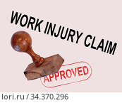 Work Injury Claim Approved Showing Medical Expenses repaid. Стоковое фото, фотограф Vitanovski Jovanche / easy Fotostock / Фотобанк Лори