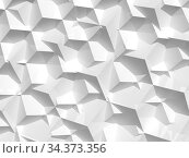 Abstract white digital pattern, background texture 3d. Стоковая иллюстрация, иллюстратор EugeneSergeev / Фотобанк Лори