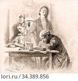 Arnold Carl Johann - Adolph Menzel Abends Beim Schein Der Lampe Arbeitend... Редакционное фото, фотограф Artepics / age Fotostock / Фотобанк Лори