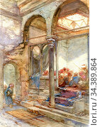 Bach Guido - the School Room Cairo - German School - 19th Century. Редакционное фото, фотограф Artepics / age Fotostock / Фотобанк Лори