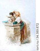 Bach Guido - Addio - German School - 19th Century. Редакционное фото, фотограф Artepics / age Fotostock / Фотобанк Лори