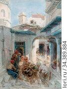 Bach Guido - in the Casbah Algiers - German School - 19th Century. Редакционное фото, фотограф Artepics / age Fotostock / Фотобанк Лори