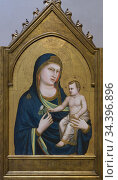 Madonna and child, Giotto, circa 1320-1330, National Gallery of Art... Стоковое фото, фотограф Peter William Barritt / age Fotostock / Фотобанк Лори