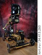 Steam robot on wheels. Стоковое фото, фотограф Валерий Александрович / Фотобанк Лори