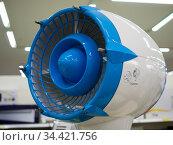 Фрагмент напольного бутового вентилятора  в виде турбины. Стоковое фото, фотограф Вячеслав Палес / Фотобанк Лори