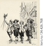 Illustration for The Three Musketeers by Alexandre Dumas (1802-1870... Стоковое фото, фотограф Jerónimo Alba / age Fotostock / Фотобанк Лори