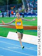 MELBOURNE, AUSTRALIA - FEBRUARY 4: Ryan Gregson of Team Australia... Стоковое фото, фотограф Zoonar.com/Chris Putnam / age Fotostock / Фотобанк Лори