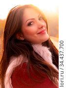Close-up portrait of a gorgeous romantic young woman with beautiful... Стоковое фото, фотограф Zoonar.com/Arthur Mustafa / easy Fotostock / Фотобанк Лори