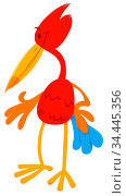 Cartoon Illustration of Colorful Funny Fantasy Bird Animal Character. Стоковое фото, фотограф Zoonar.com/Igor Zakowski / easy Fotostock / Фотобанк Лори