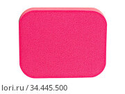 Red cosmetic sponge pad for face cleaning, high resolution, isolated... Стоковое фото, фотограф Zoonar.com/Arthur Mustafa / easy Fotostock / Фотобанк Лори
