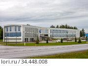 Tartu, Estonia - JUl 25, 2020: The building of Estonian Aviation Academy. Редакционное фото, фотограф Юлия Кузнецова / Фотобанк Лори