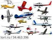 Numerous light planes. Стоковое фото, фотограф Яков Филимонов / Фотобанк Лори