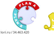 Plan A, plan B, plan C. The check mark in the form of a puzzle. Стоковая анимация, видеограф WalDeMarus / Фотобанк Лори