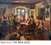 Rau Emil - Jägerlatein 1 - German School - 19th and Early 20th Century... Стоковое фото, фотограф Artepics / age Fotostock / Фотобанк Лори