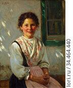 Rau Emil - Mädchen in Alpenländischer Tracht - German School - 19th... Стоковое фото, фотограф Artepics / age Fotostock / Фотобанк Лори