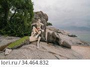 The Sai Noi Beach near the Village of Khao Tao near the Town of Pranburi... Стоковое фото, фотограф Zoonar.com/URS FLUEELER / age Fotostock / Фотобанк Лори
