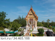 The Wat Sam Roi Yot Temple near the Town of Pranburi on the Golf ... Стоковое фото, фотограф Zoonar.com/URS FLUEELER / age Fotostock / Фотобанк Лори