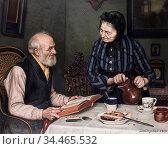 Spielter Carl Johann - Sonntag Nachmittag - German School - 19th ... Редакционное фото, фотограф Artepics / age Fotostock / Фотобанк Лори