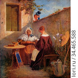 Spitzweg Carl - Der Liebesbrief - German School - 19th Century. Редакционное фото, фотограф Artepics / age Fotostock / Фотобанк Лори