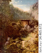 Spitzweg Carl - Gebirgsmühle - German School - 19th Century. Редакционное фото, фотограф Artepics / age Fotostock / Фотобанк Лори