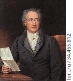 Stieler Joseph Karl - Johann Wolfgang Von Goethe - German School - ... Редакционное фото, фотограф Artepics / age Fotostock / Фотобанк Лори