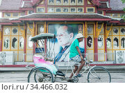 A bicycle riksha in the Town of Hua Hin in the Province of Prachuap... Стоковое фото, фотограф Zoonar.com/URS FLUEELER / age Fotostock / Фотобанк Лори