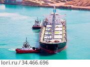 NAPIER, NEW ZEALAND -SEPTEMBER 30, 2017: Tug boats guide a shipping... Стоковое фото, фотограф Zoonar.com/Chris Putnam / easy Fotostock / Фотобанк Лори