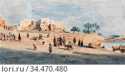 Werner Carl Friedrich Heinrich - View of Luxor - German School - ... Редакционное фото, фотограф Artepics / age Fotostock / Фотобанк Лори